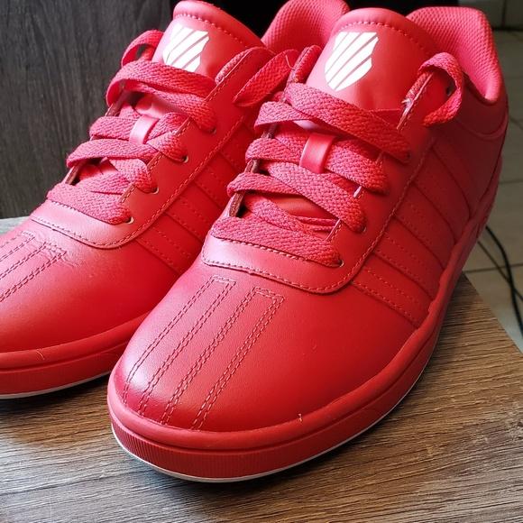 Kswiss Classic Red Mens Sneakers Tennis